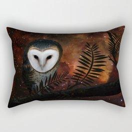 Barn owl at night Rectangular Pillow