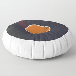 Vinyl Record Art Handlebar Mustache Floor Pillow