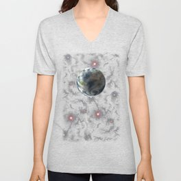 Planet Earth-Space Unisex V-Neck