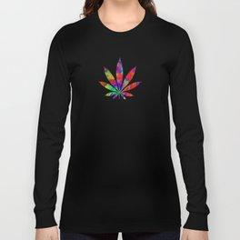 Rainbow Cannabis Leaf Long Sleeve T-shirt