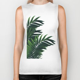Palm Leaves Tropical Green Vibes #1 #tropical #decor #art #society6 Biker Tank