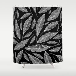 Float Like A Feather - Black Shower Curtain