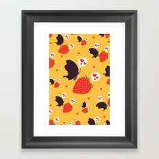 the death loves the strawberry Framed Art Print