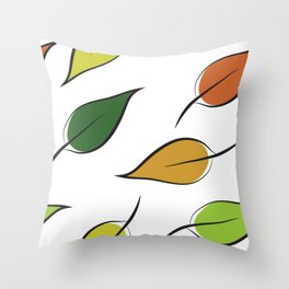 A Pattern of Falling Leaves Throw Pillow