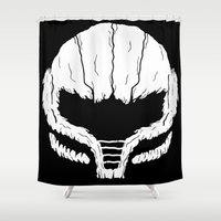 samus Shower Curtains featuring SAMHAIN SAMUS by UNDEAD MISTER / MRCLV