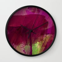 "girly Wall Clocks featuring ""Girly"" by hayleytheartist"