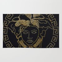 versace Area & Throw Rugs featuring Versace Gold by InteriorEpiphanies