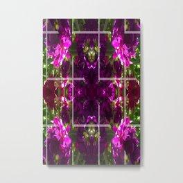 cross pattern kaleidoscope Metal Print