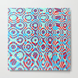 Mixed Polyps Red Blue - Coral Reef Series 035 Metal Print