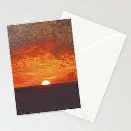 Fluid sunset Stationery Cards