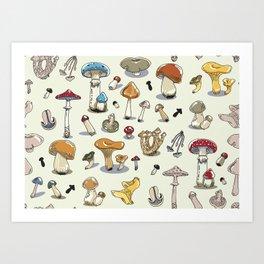 Fungus pattern Art Print
