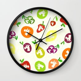 Fruity Unicorns Wall Clock