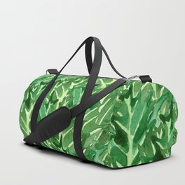 Holly Jolly Leaves (Large Pattern) Duffle Bag