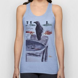 Tuileries Crow Unisex Tank Top
