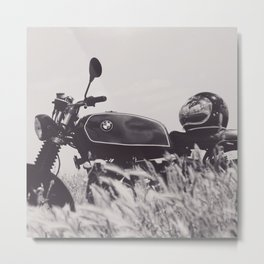 Scrambler photography, motorcycle lovers, motorbike, café racer, cafe racer, man cave gift Metal Print
