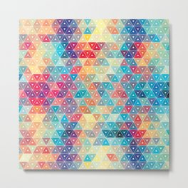 Colorful geometric pattern Metal Print