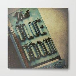 Blue Room Neon Sign Metal Print