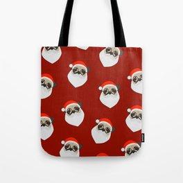 Santa Pugs Tote Bag