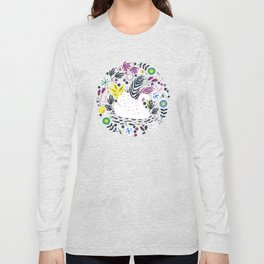 Delightful Swan Long Sleeve T-shirt