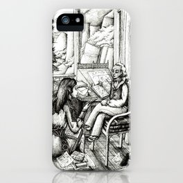 Poetry club iPhone Case