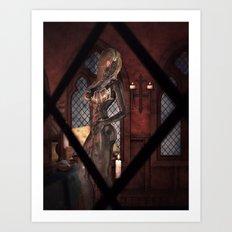 Peeping Tom's Surprise Art Print