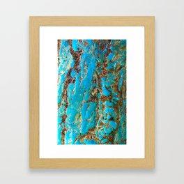 Turquoise & Howlite Framed Art Print