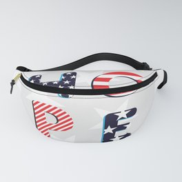 Hope Inspirational Election Art Stars and Stripes Fanny Pack