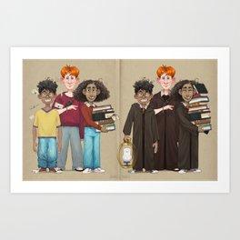 Dorky Kids Go To Private School Art Print