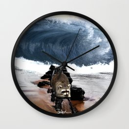 First time on the beach Wall Clock