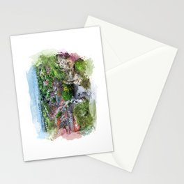 Nottingham city watercolor Stationery Cards
