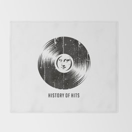 History of Hits Throw Blanket