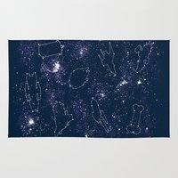 ships Area & Throw Rugs featuring Star Ships by Mandrie
