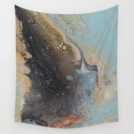 gold and black sand Wall Tapestry