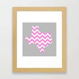TEXAS {PINK} Framed Art Print