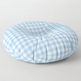 Sky Blue Gingham Floor Pillow