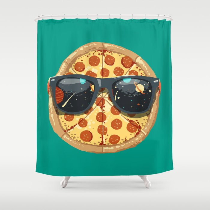 Cool Pizza Shower Curtain