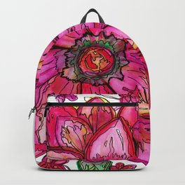 Vibrant Watercolor Flower Backpack