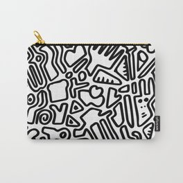black & white doodle Carry-All Pouch