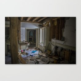 Abandoned Living Room Canvas Print