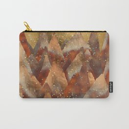 Abstract Copper  Gold Glitter Mountain Dreamscape Carry-All Pouch
