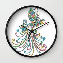 Image for Flying Hummingbird Art Wall Clock