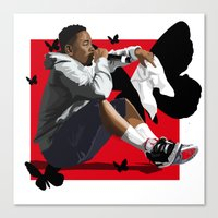 kendrick lamar Canvas Prints featuring Kendrick Lamar by MikeHanz