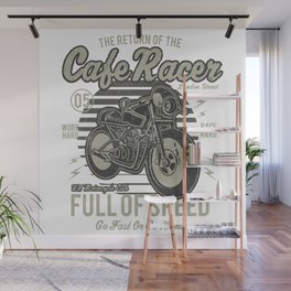 Caferacer Motorcycle Vintage Poster Wall Mural