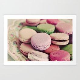 Sweet Macarons Art Print