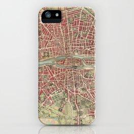 Vintage Map of Paris France (1784) iPhone Case