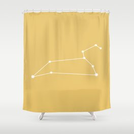 Leo Zodiac Constellation - Warm Yellow Shower Curtain