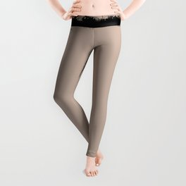 Square Strokes Black on Nude Leggings