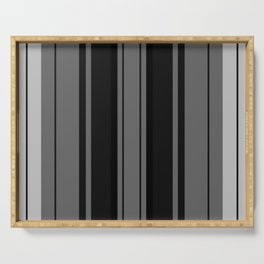 Strips - gray and black. Serving Tray