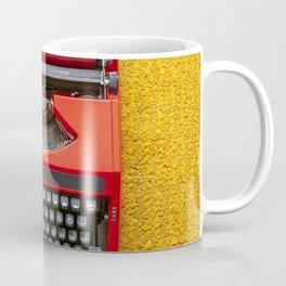 Red Portable Typewriter Coffee Mug