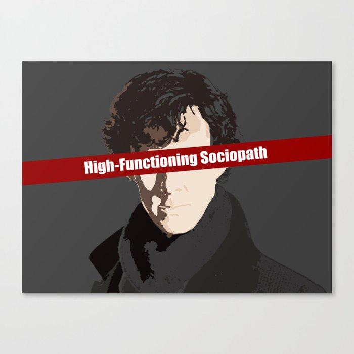 Sherlock: High-Functioning Sociopath Leinwanddruck